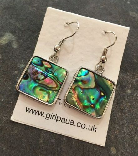 Paua Square Earrings PE03-Q